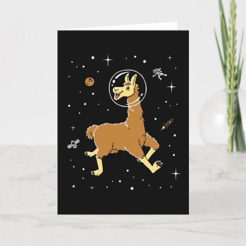 ❤️ Llama Animals In Space Card