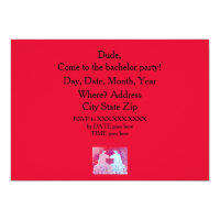 Llama bachelor party invitation. Blue & Pink llama Card