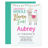Llama Birthday Invitation - Customize it yourself