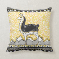 Llama dots throw pillow accent cushion