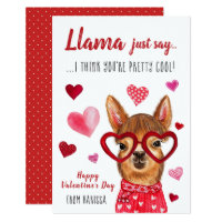Llama Just Say | Valentine's Day Card