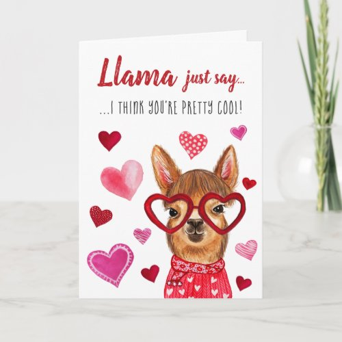 Llama Just Say | Valentine's Day Greeting Card