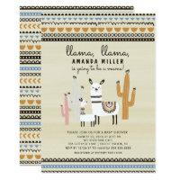 Llama Mama Baby Shower Invitation