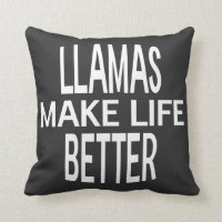 Llamas Better Pillow - Assorted Styles & Colors