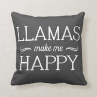 Llamas Happy Pillow - Assorted Styles & Colors
