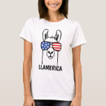 Llamerica, Funny Lllama shirt, 4th of July, USA T-Shirt