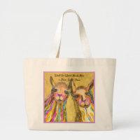 Llove Sweet Llove Large Tote Bag