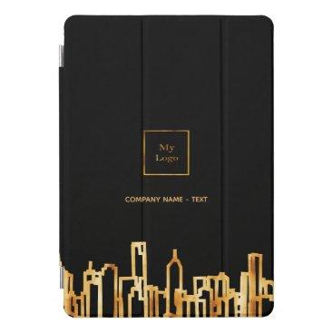 Logo gold city skyline black business real estate iPad pro cover