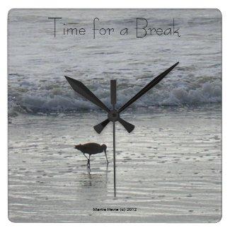 Lone Beach Sandpiper Clock