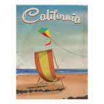 Long Beach California vintage travel poster
