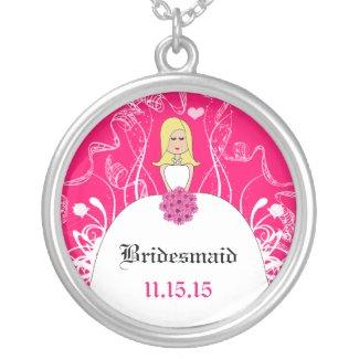 Long Blonde Bridesmaid Necklace