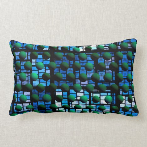 Looking out at Night, Abstract Venture Adventure Lumbar Pillow