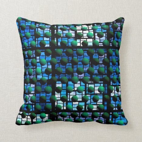 Looking out at Night, Abstract Venture Adventure Throw Pillow