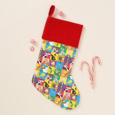 LOONEY TUNES™ Character Grid Christmas Stocking