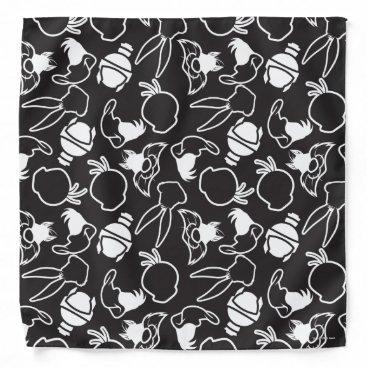 LOONEY TUNES™ Head Outlines Pattern Bandana