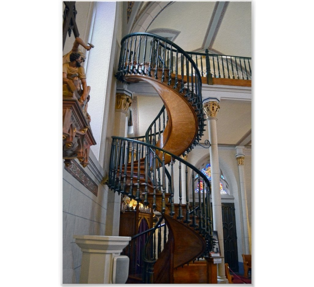 The Miraculous Stairway In The Loretto Chapel Catherine Sherman | Stairway Of Loretto Chapel | Story | Mysterious | Jesus | Wood | Miraculous Staircase