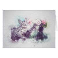Loss of Pet Cat Custom Sympathy Card