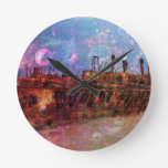 LOST TO THE RAVAGES OF TIMEship ship wreck shipwre Round Clock