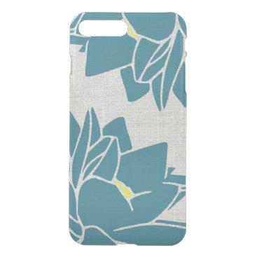 Lotus Flower linen look blue iPhone 8 Plus/7 Plus Case