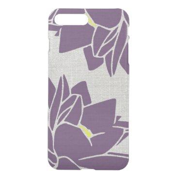 Lotus Flower linen look purple iPhone 8 Plus/7 Plus Case