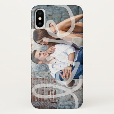 """Love"" Add your photo iPhone XS Case"