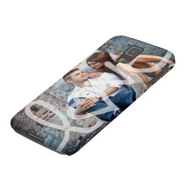 """love"" add your photo galaxy s5 case"