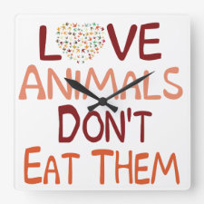 Love Animals Wall Clock