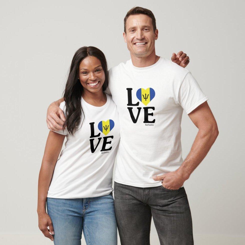 Love Barbados Couple T-Shirt
