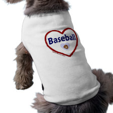 Love Baseball petshirt