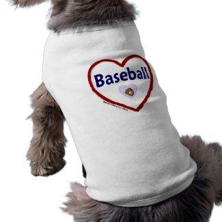 Love Baseball petshirt