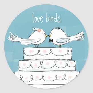 Love Birds Stickers
