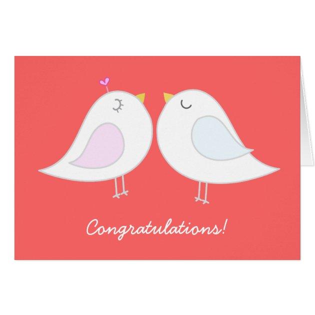 Love Birds Wedding Congratulations Card Zazzle