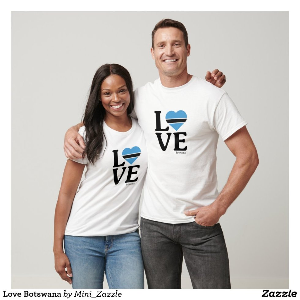 Love Botswana Couple T-Shirt