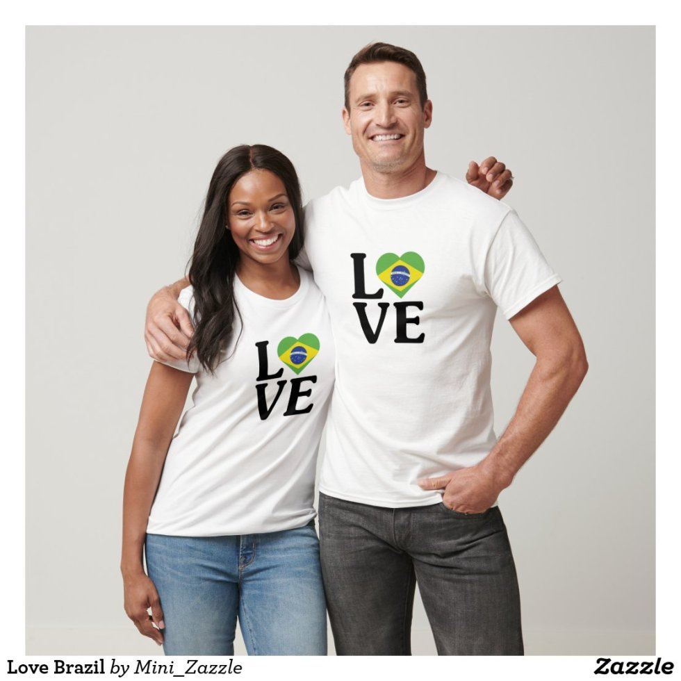 Love Brazil Couple T-Shirt