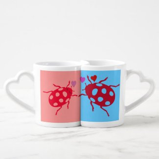 Love bugs couple mugs