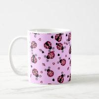 Love Bugs Pink Ladybugs Coffee Mug