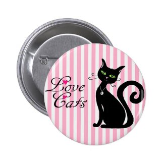 Flirty Black Cat Pin