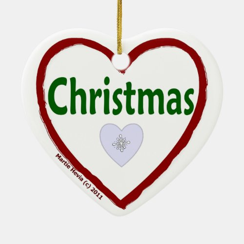 Love Christmas Ornament