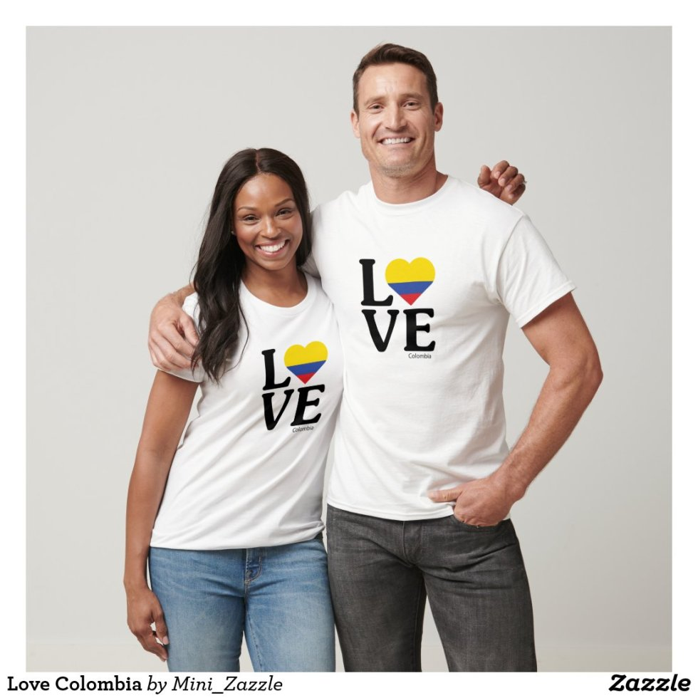 Love Colombia Couple T-Shirt