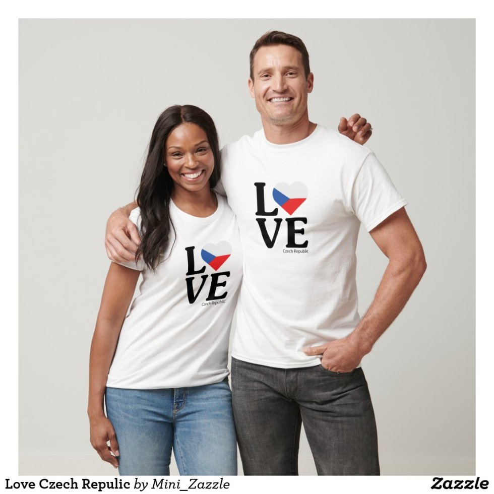 Love Czech Repulic Couple T-Shirt