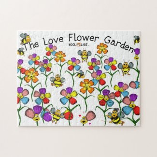 Love Flower BEE Garden Puzzle