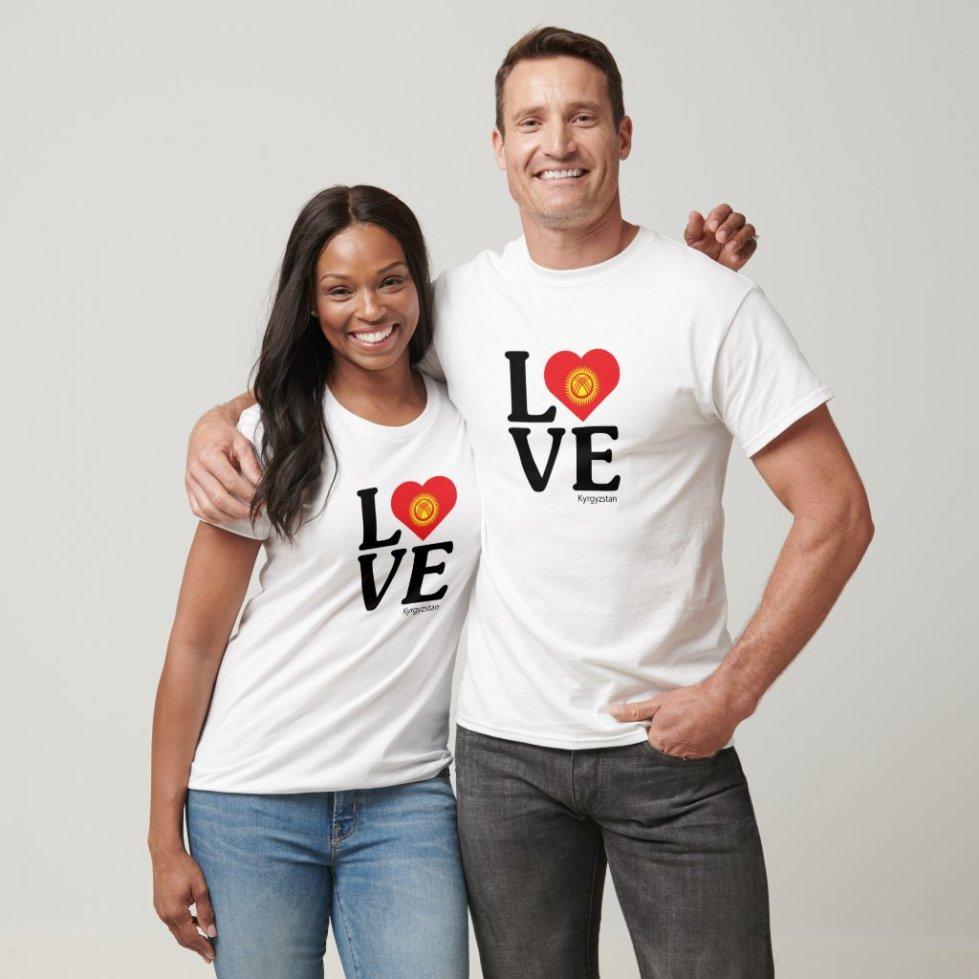 Love Kyrgyzstan Couple T-Shirt