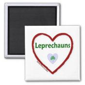 Love Leprechauns Fridge Magnet