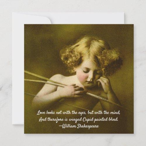 Love Looks Not With The Eyes, Cupid Asleep Card