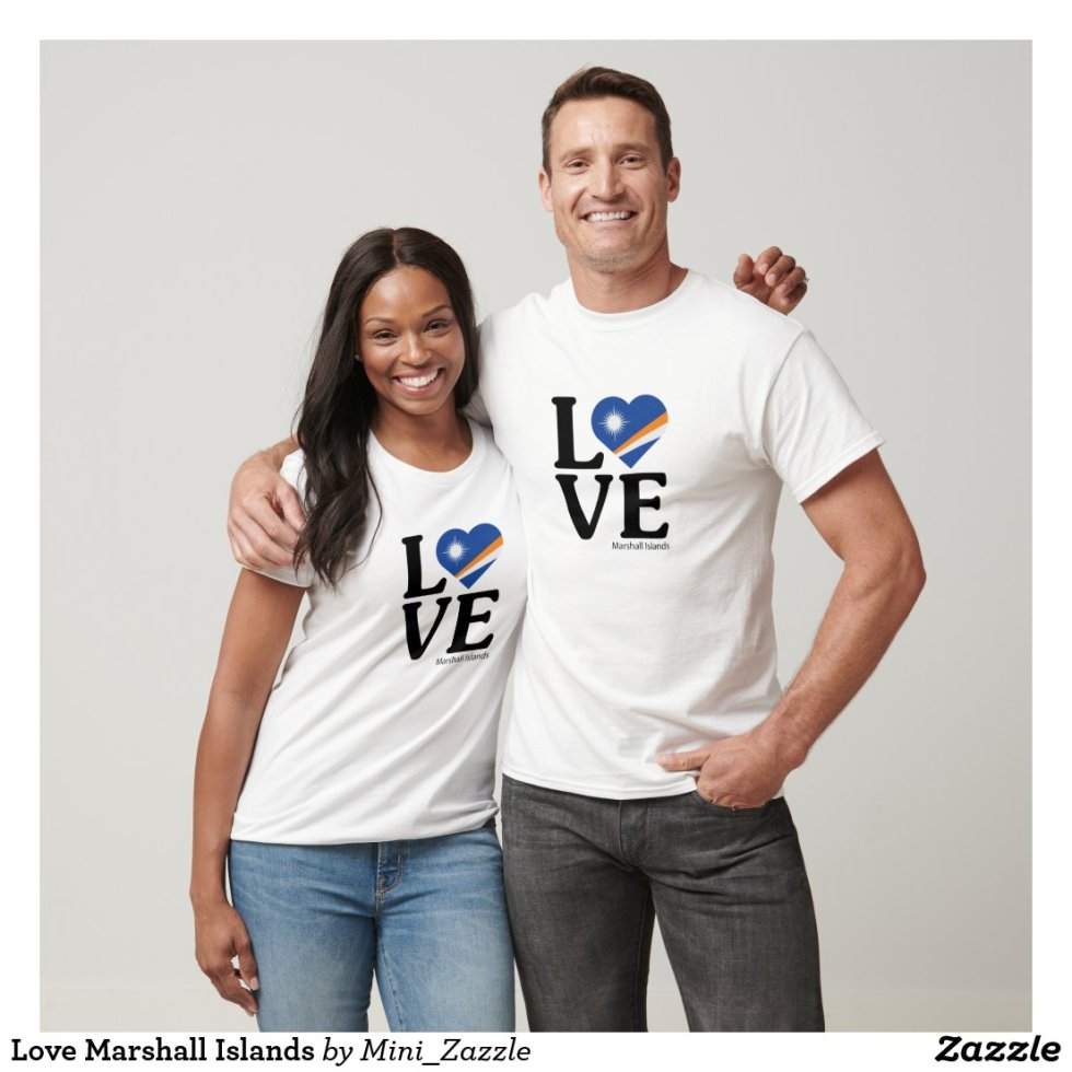 Love Marshall Islands Couple T-Shirt