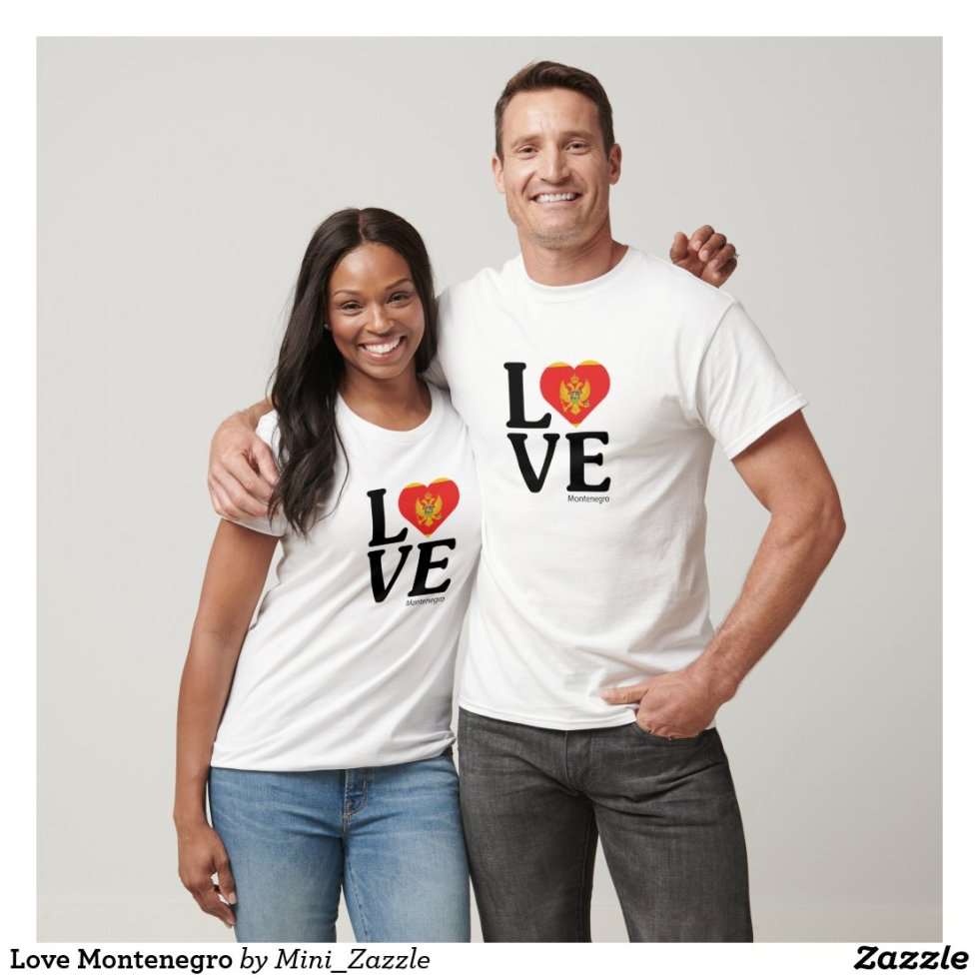 Love Montenegro Couple T-Shirt