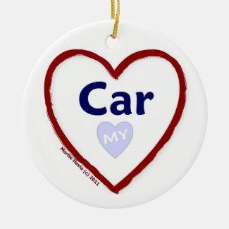 Love My Car Christmas Ornaments