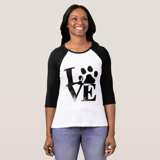 Love Paw 3/4 Length Sleeve T-Shirt