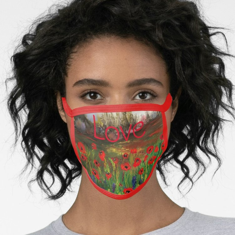 Love Poppy Field Face Mask