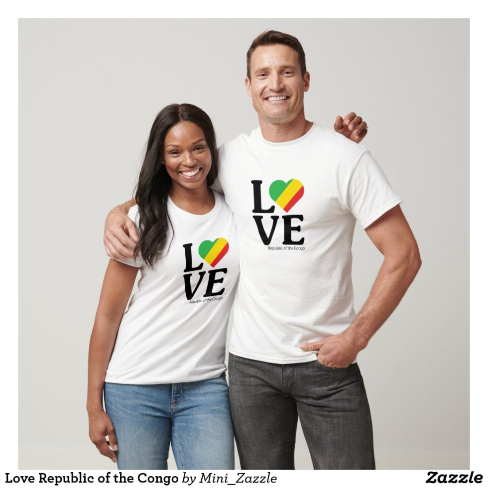 Love Republic of the Congo Couple T-Shirt